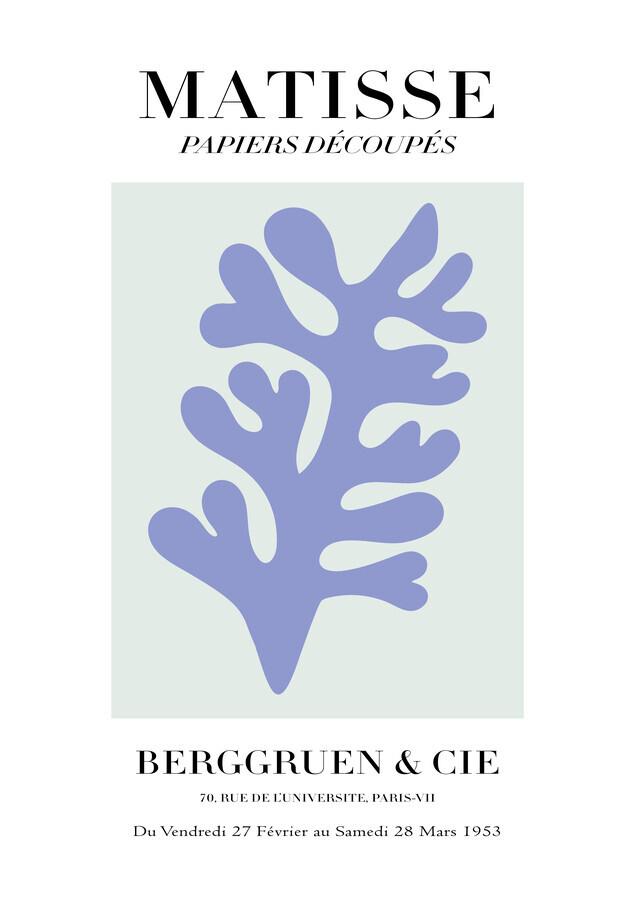 Matisse - Papiers Découpés, gray and violet - Fineart photography by Art Classics