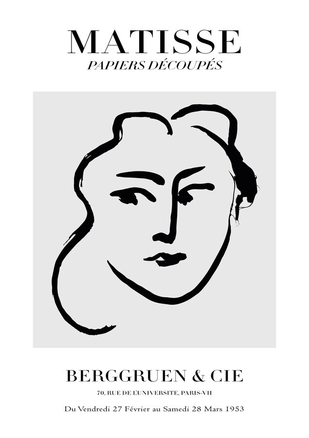 Matisse – Face Of A Woman - Fineart photography by Art Classics