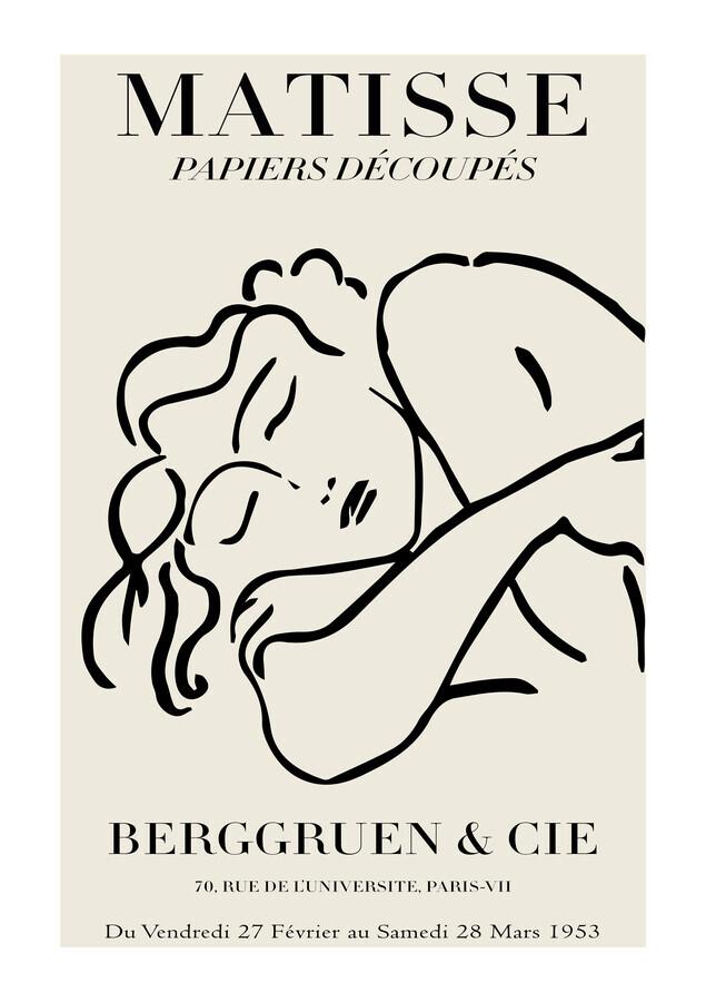 Matisse – Woman black / beige - Fineart photography by Art Classics