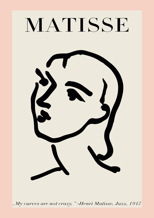 Matisse – Face Of A Woman, pink / beige - Fineart photography by Art Classics