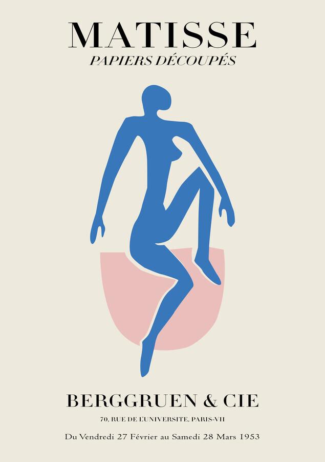 Matisse – Frau in blau - fotokunst von Art Classics