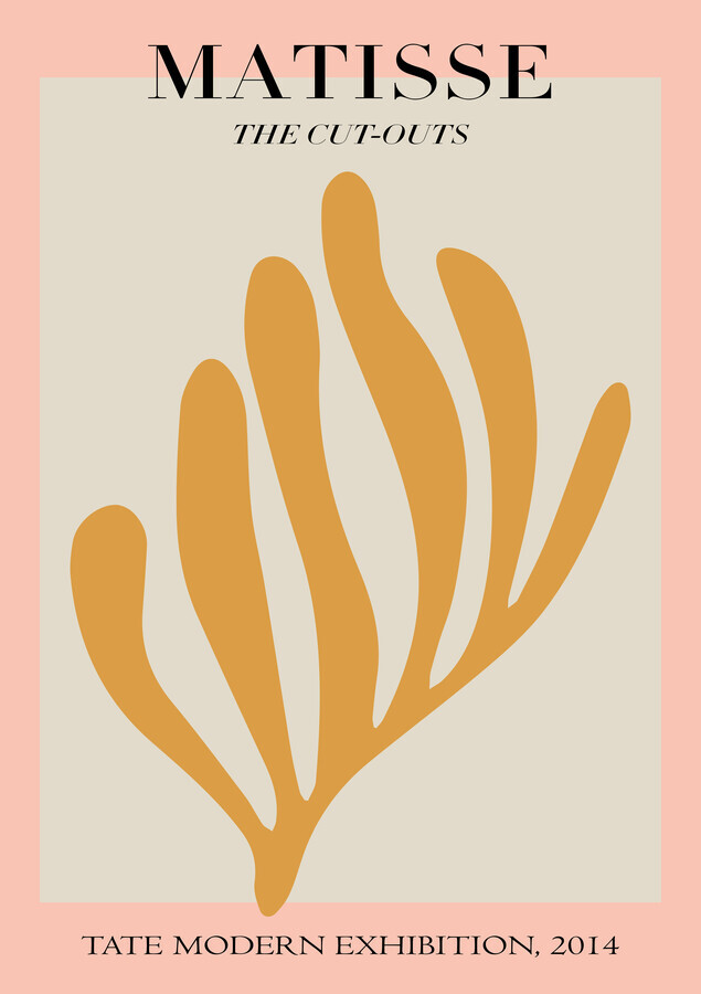 Matisse – botanical design pink / gray / gold - Fineart photography by Art Classics