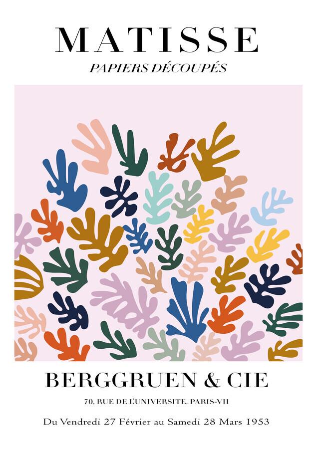 Matisse - Papiers Découpés, buntes botanisches Design - fotokunst von Art Classics