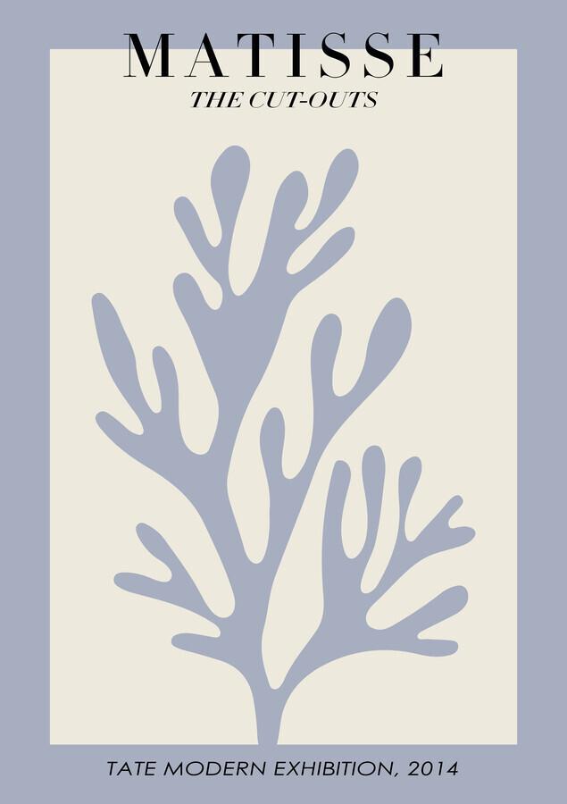 Matisse - botanical design violet / beige - Fineart photography by Art Classics