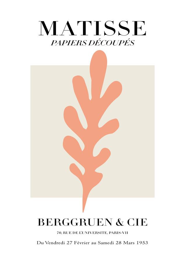 Matisse - Papiers Découpés, pink botanical design - Fineart photography by Art Classics