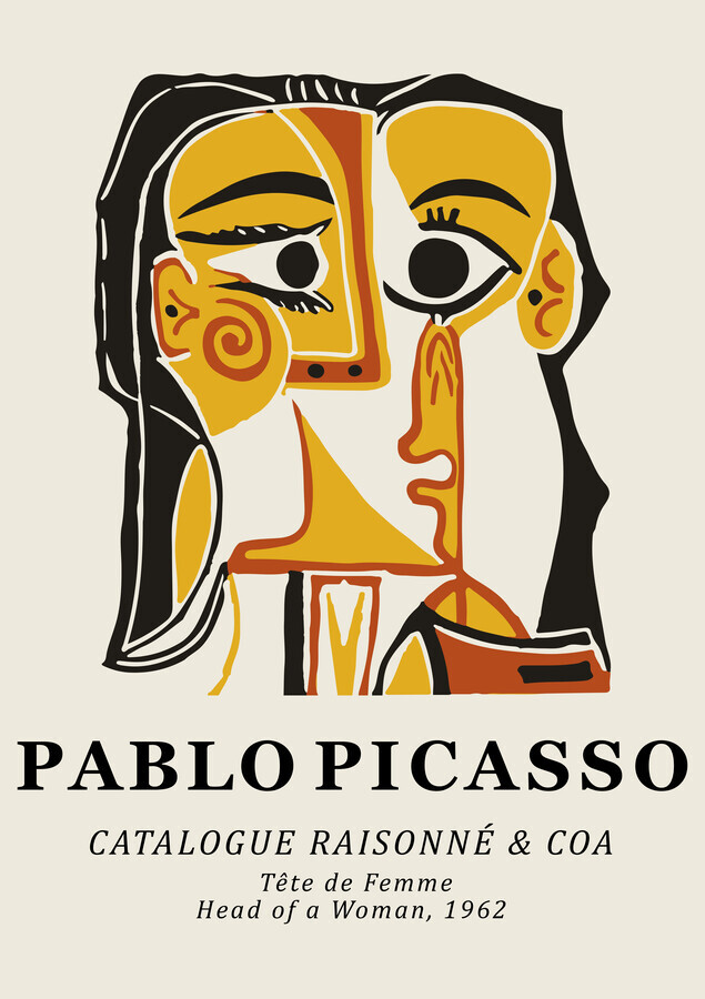 Pablo Picasso - Head Of A Woman 1962 - Fineart photography by Art Classics