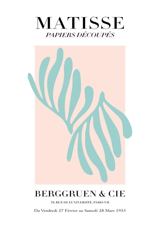 Matisse – pink / green botanical design - Fineart photography by Art Classics