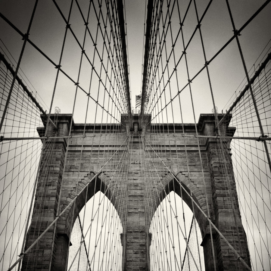 New York City - Brooklyn Bridge - fotokunst von Alexander Voss