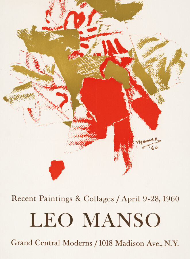 Leo Manso exhibition poster, 1960 - Fineart photography by Vintage Collection