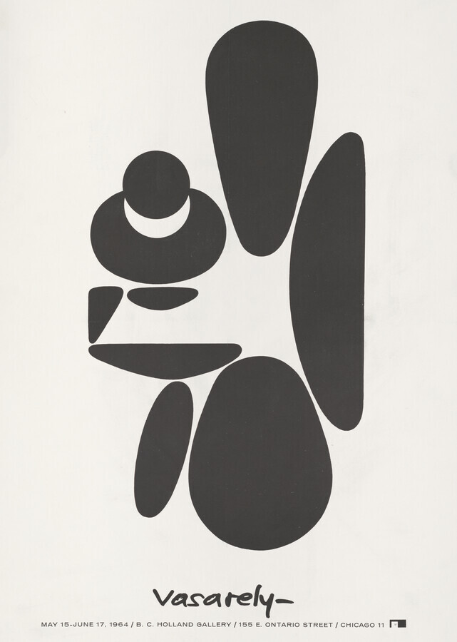Victor Vasarely Exhibition Poster, 1964 - Fineart photography by Vintage Collection