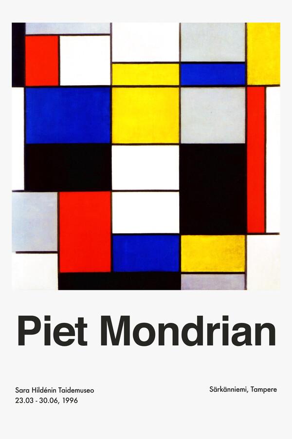 Piet Mondrian – Sara Hildénin Taidemuseo - Fineart photography by Art Classics