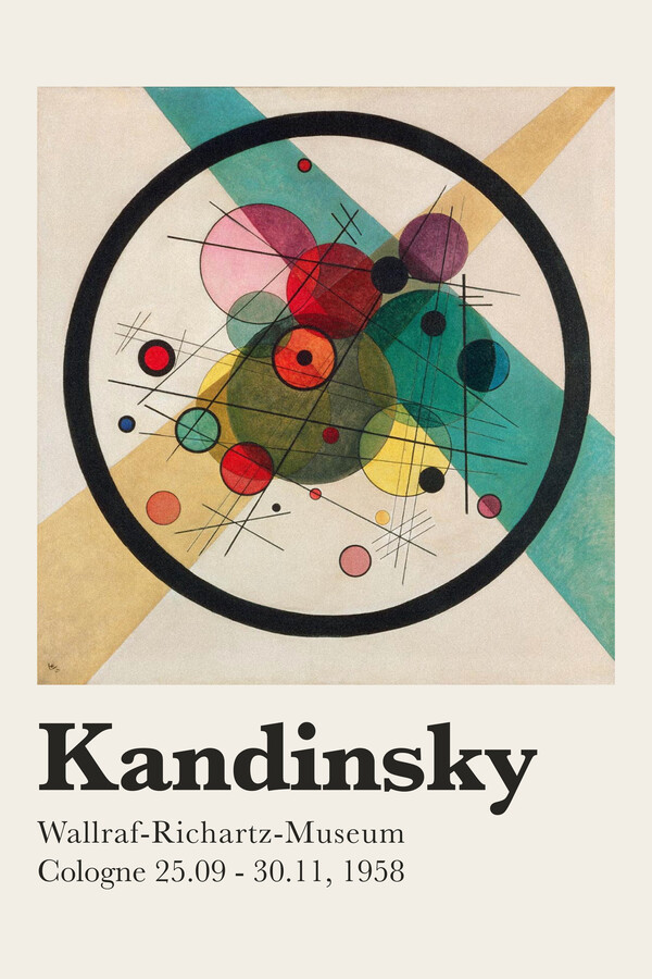 Kandinsky exhibition poster 1958 - Fineart photography by Art Classics