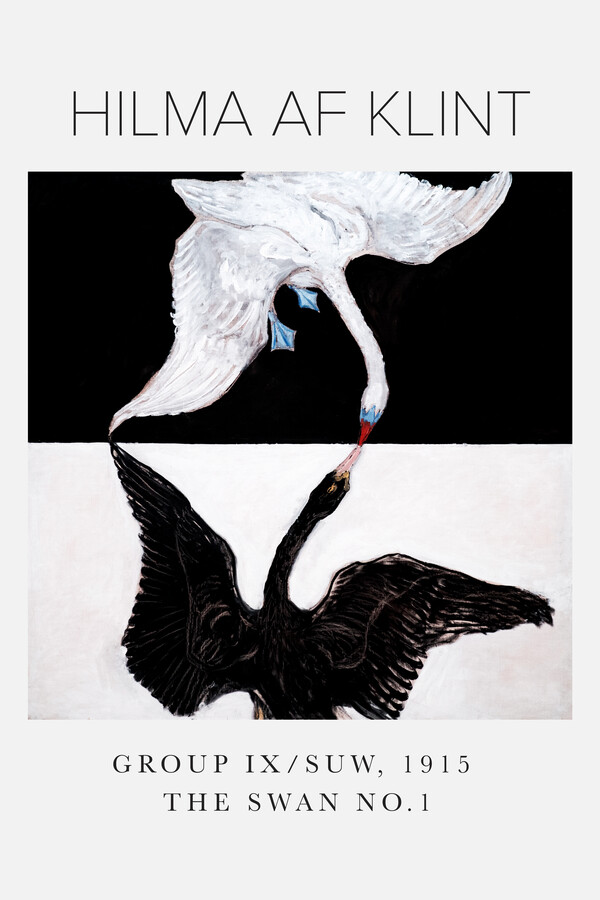 Hilma af Klint The Swan No. 1 - Fineart photography by Art Classics