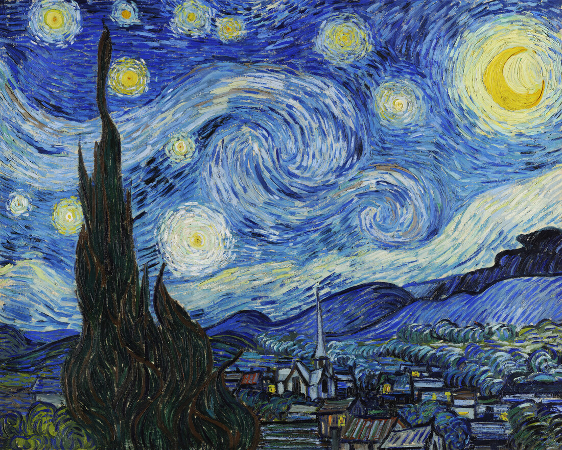 The Starry Night by Vincent Van Gogh - Fineart photography by Art Classics