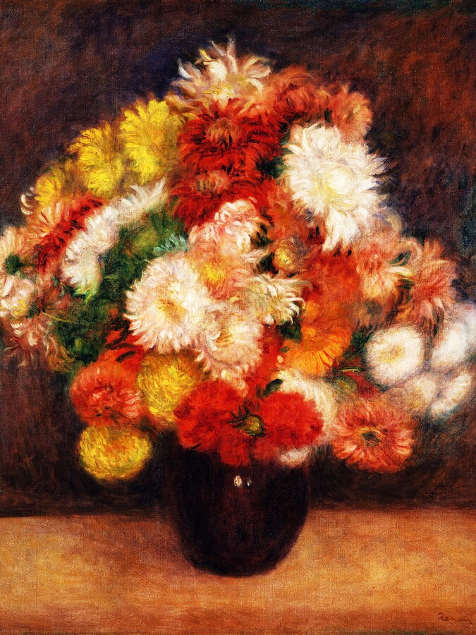 Auguste Renoir: Bouquet of Chrysanthemums (1881) - Fineart photography by Art Classics