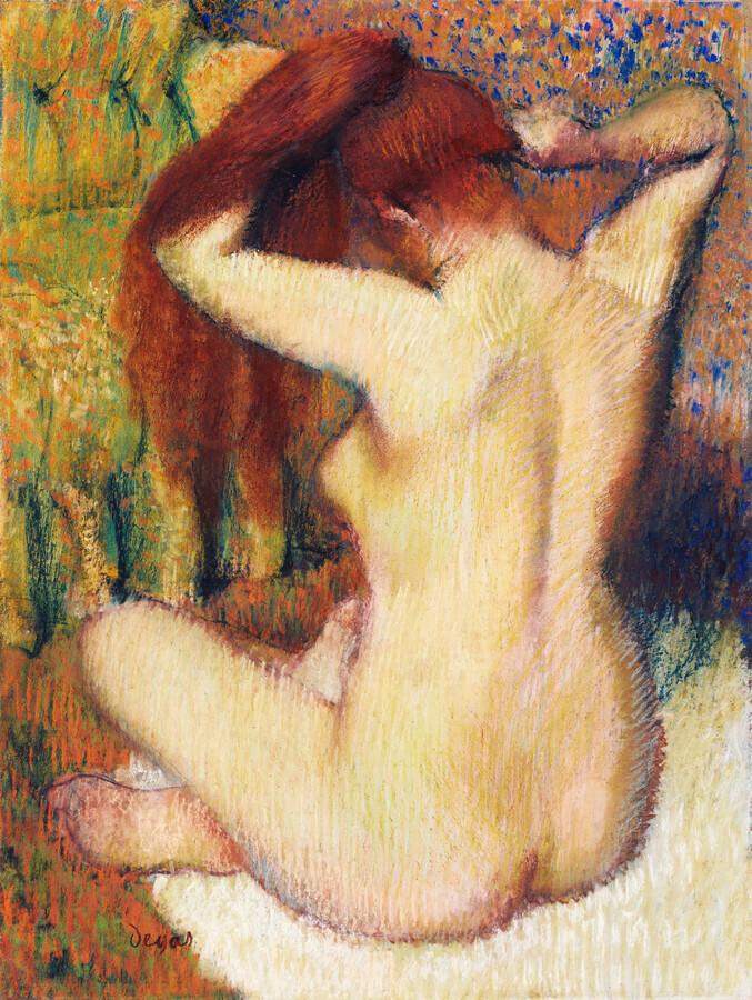 Edgar Degas: Woman Combing Her Hair - Fineart photography by Art Classics