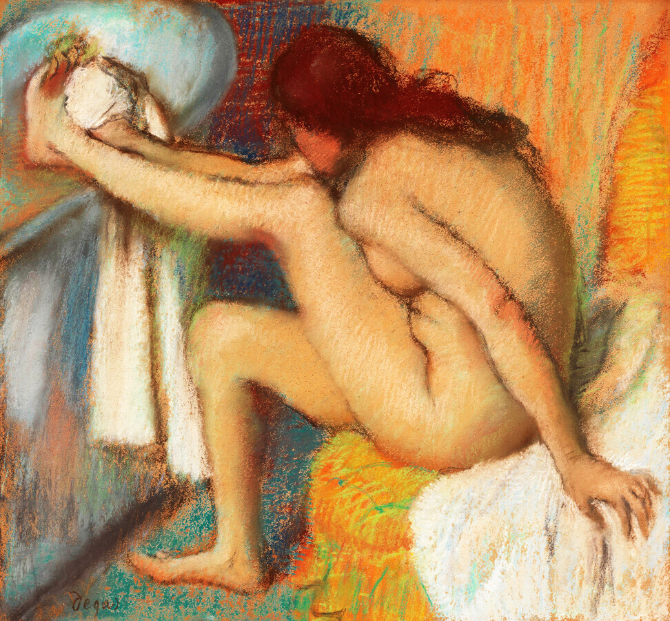 Edgar Degas: Woman Drying Her Foot - Fineart photography by Art Classics