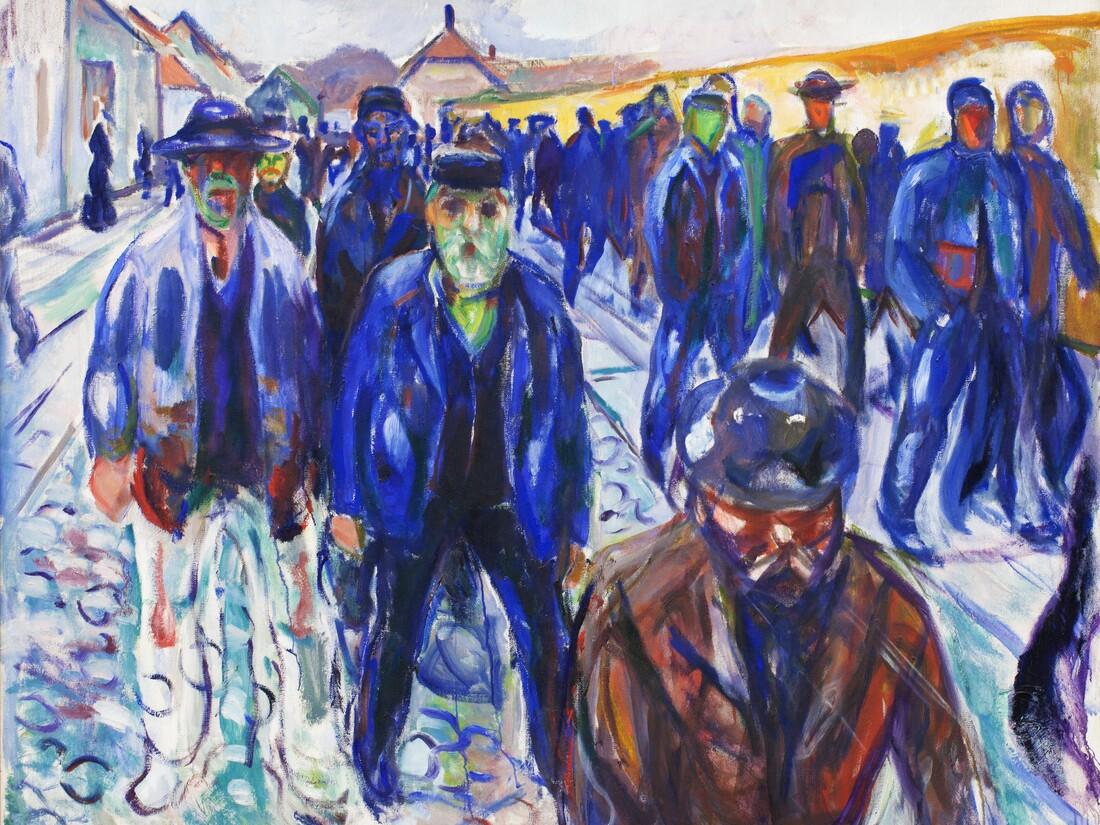 Edvard Munch: Workers on their Way Home - fotokunst von Art Classics