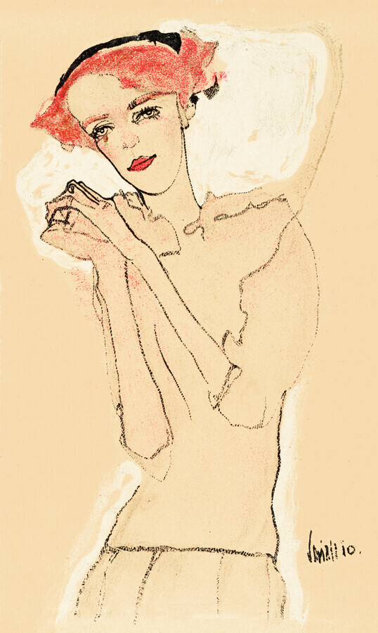 Egon Schiele: Portrait of a Woman - Fineart photography by Art Classics