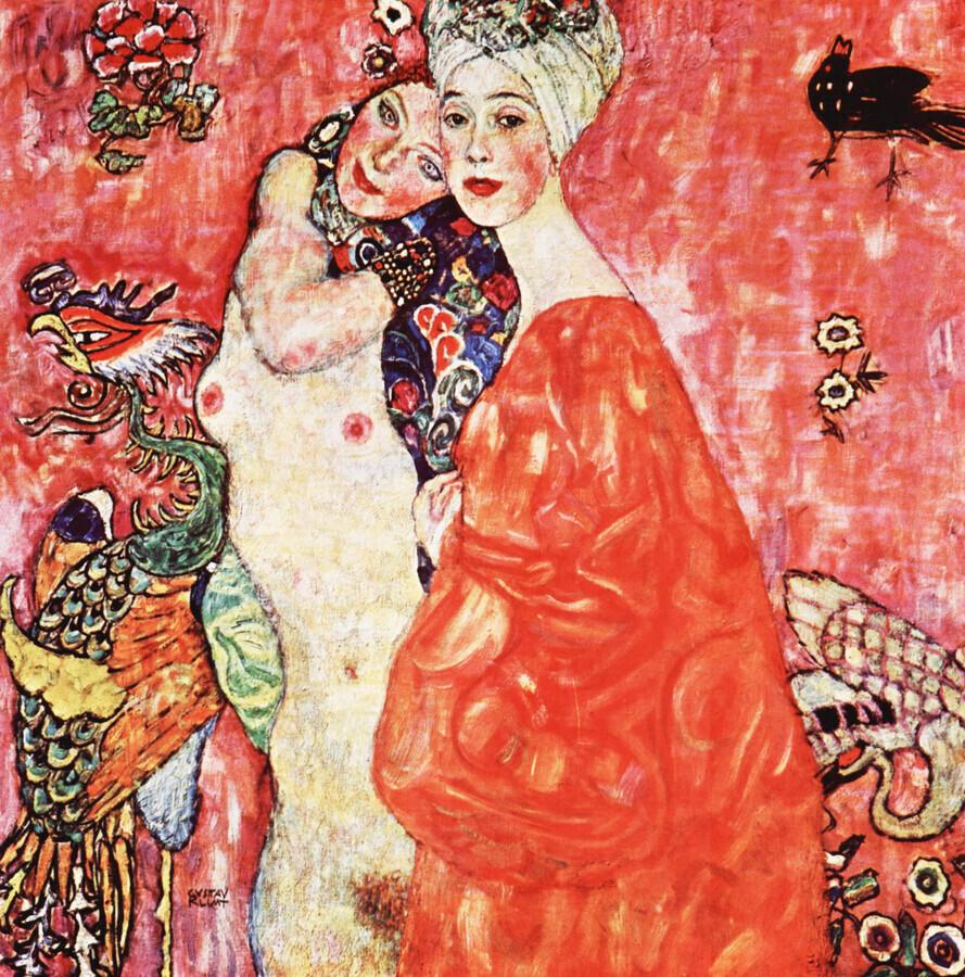 Gustav Klimt: Women Friends - Fineart photography by Art Classics