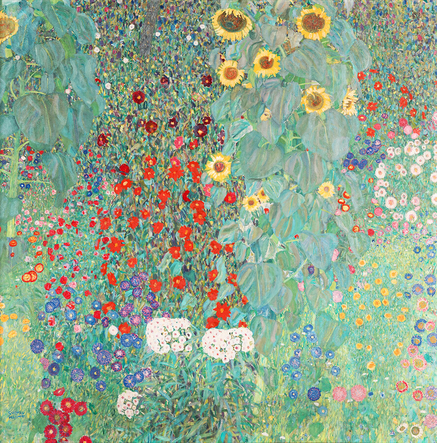 Gustav Klimt: Cottage garden with sunflowers - Fineart photography by Art Classics
