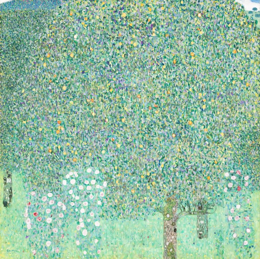 Gustav Klimt: Rosebushes under the Trees - Fineart photography by Art Classics