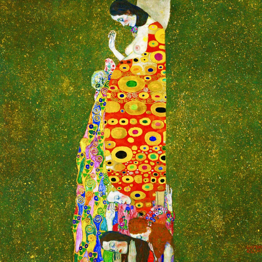 Gustav Klimt: Hope II - Fineart photography by Art Classics