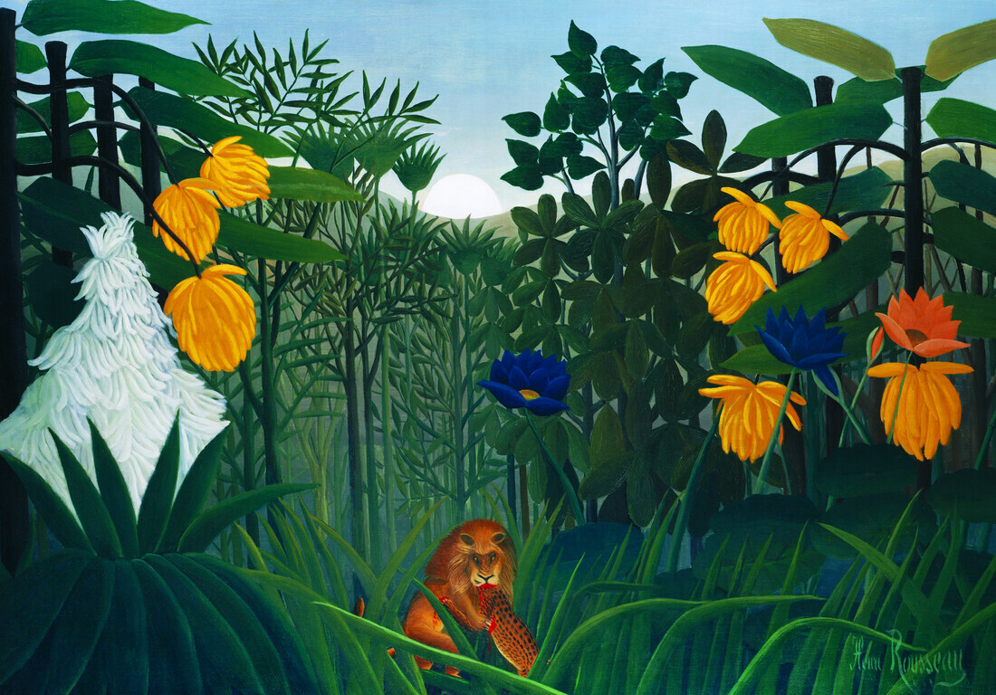Henri Rousseau: The Repast of the Lion - Fineart photography by Art Classics