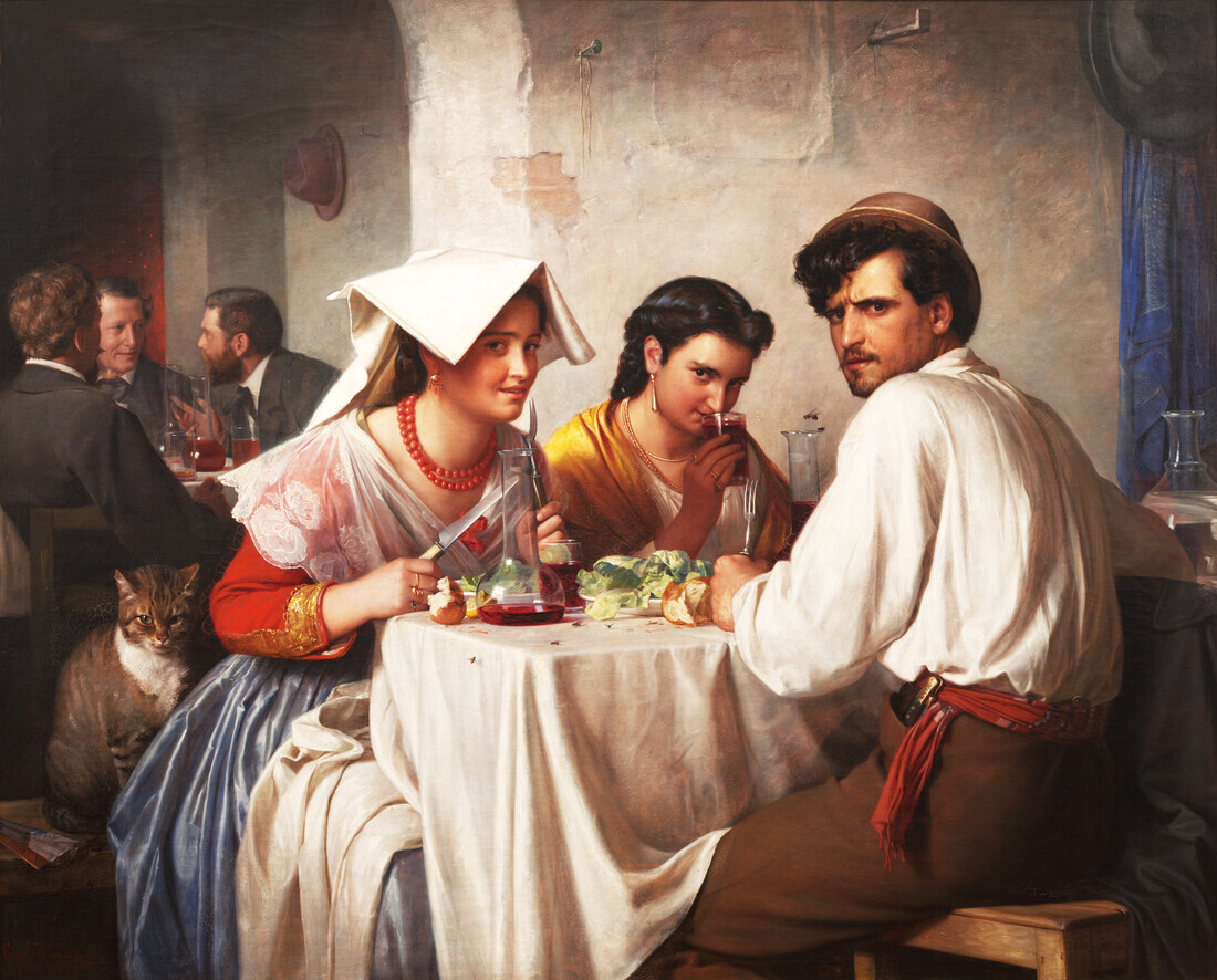 Carl Bloch: In a Roman Osteria - Fineart photography by Art Classics