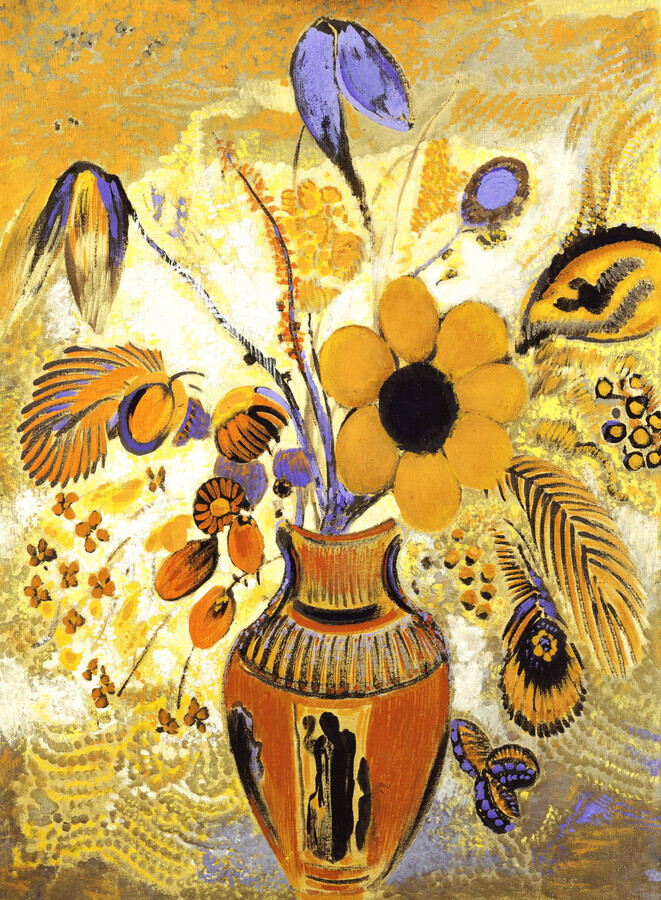Odilon Redon: Etruscan Vase with Flowers - Fineart photography by Art Classics