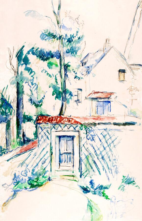 Paul Cézanne: Entrance to a Garden - Fineart photography by Art Classics