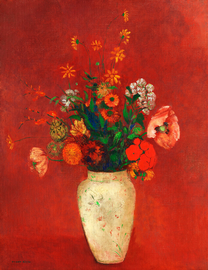 Odilon Redon: Bouquet in a Chinese Vase - Fineart photography by Art Classics