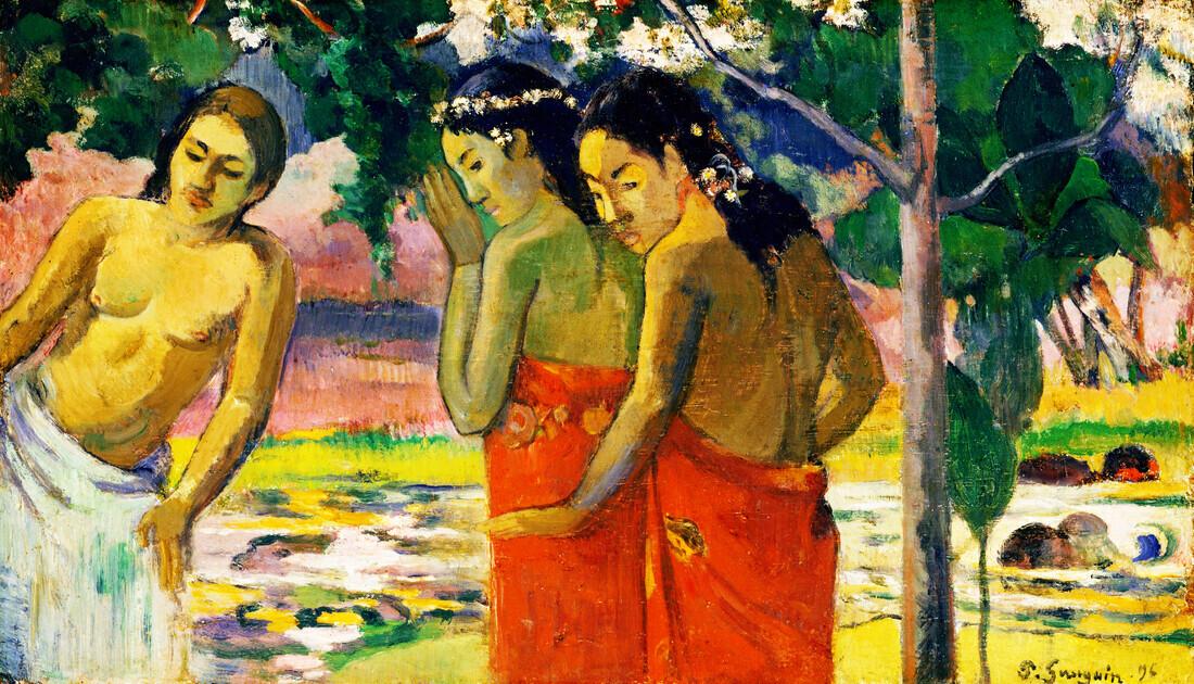 Three Tahitian Women by Paul Gauguin - Fineart photography by Art Classics