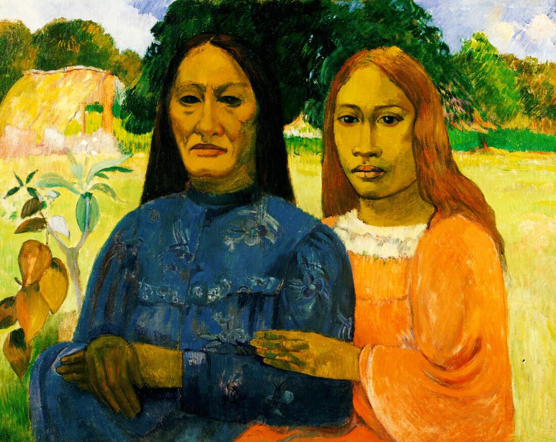 Two Women by Paul Gauguin - Fineart photography by Art Classics