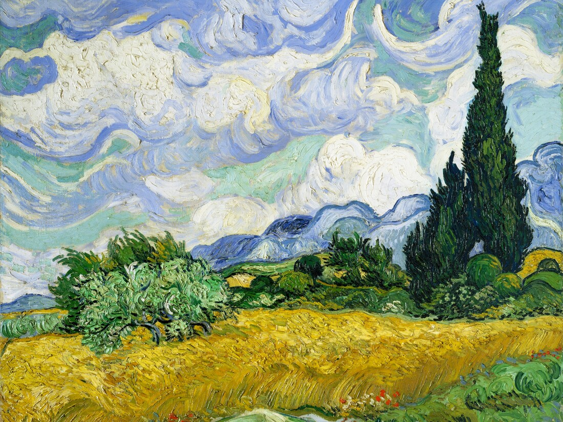 Wheat Field with Cypresses by Vincent van Gogh - Fineart photography by Art Classics