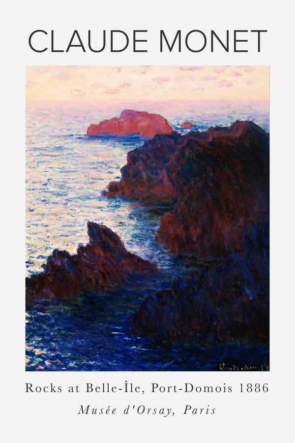 Claude Monet - Rocks At Port-Domois - Fineart photography by Art Classics