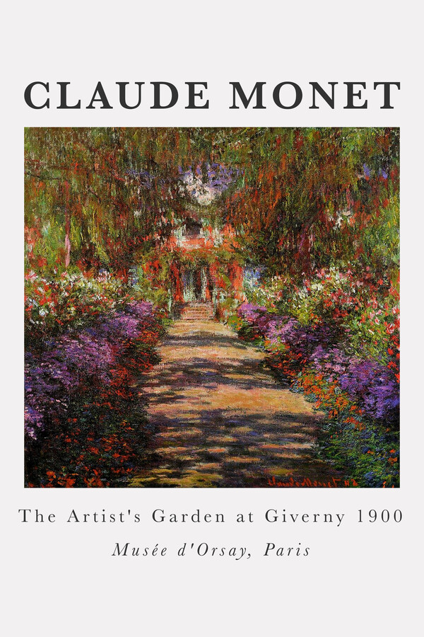 Claude Monet - The Artist's Garden At Giverny - Fineart photography by Art Classics