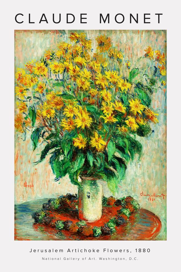 Claude Monet - Jerusalem Artichoke Flowers - Fineart photography by Art Classics