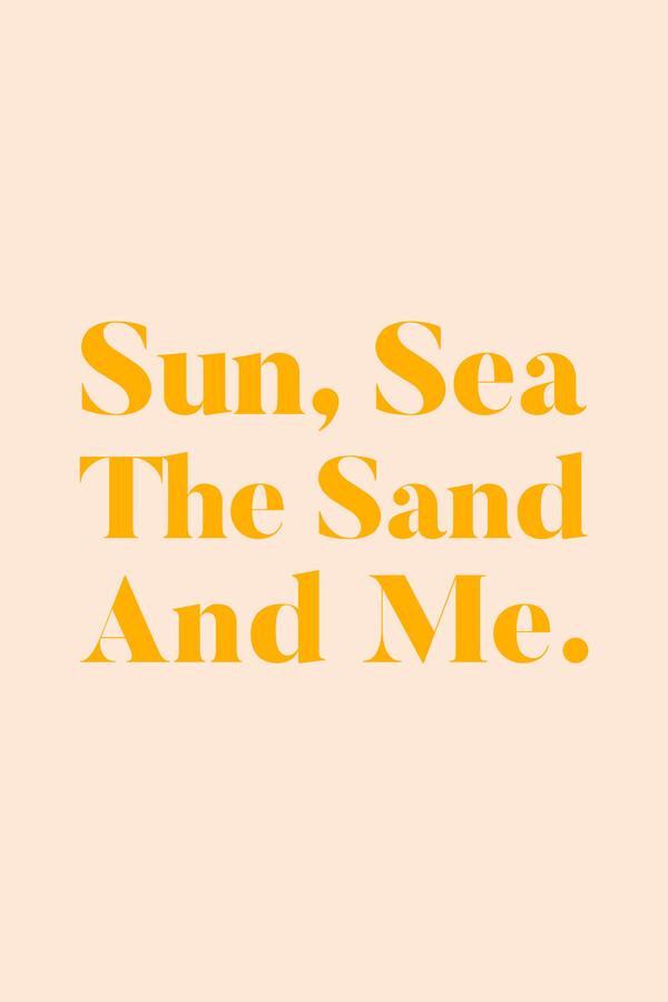 Sun, Sea, The Sand & Me - fotokunst von Uma Gokhale