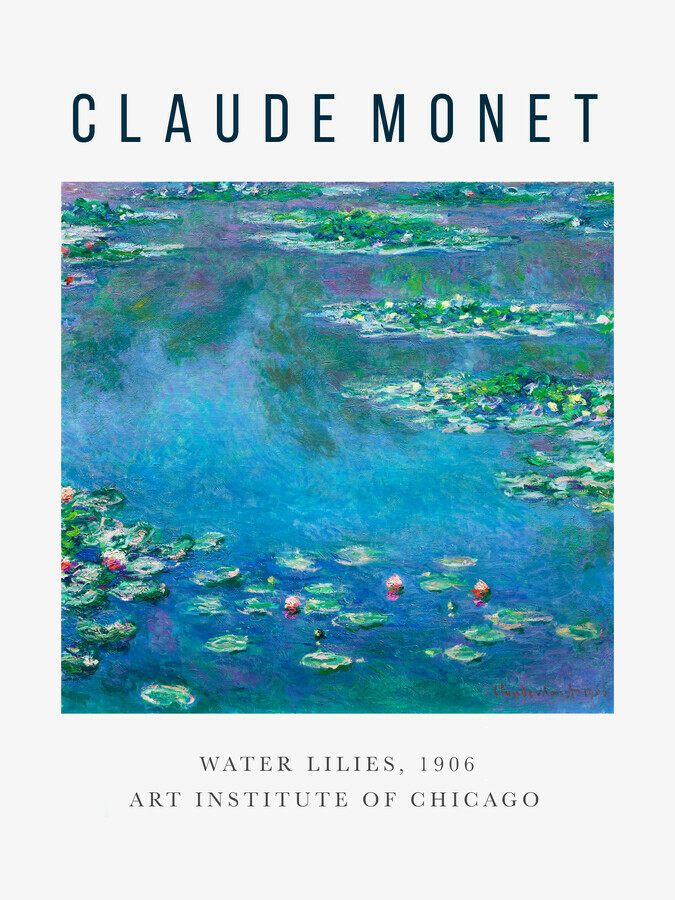 Exhibition poster: Water Lilies by Claude Monet - Fineart photography by Art Classics