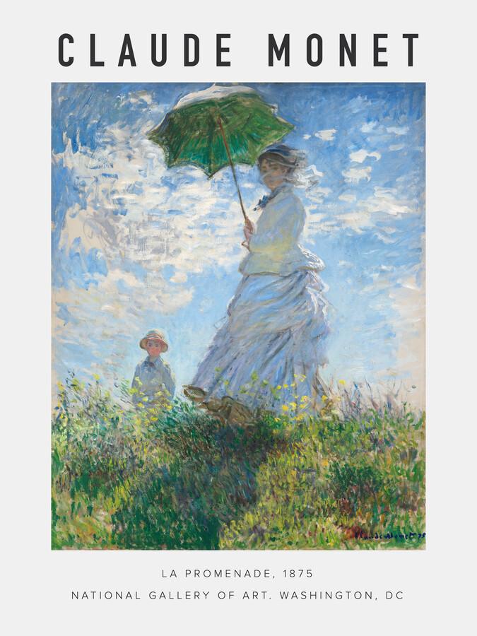 Exhibition poster La Promende by Claude Monet - Fineart photography by Art Classics