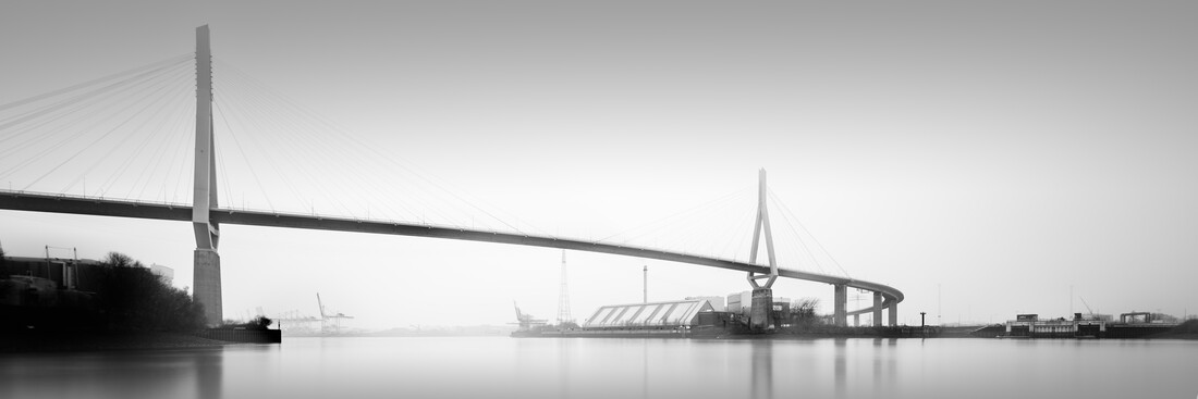 Panorama Köhlbrandtbrücke Hamburg - fotokunst von Dennis Wehrmann