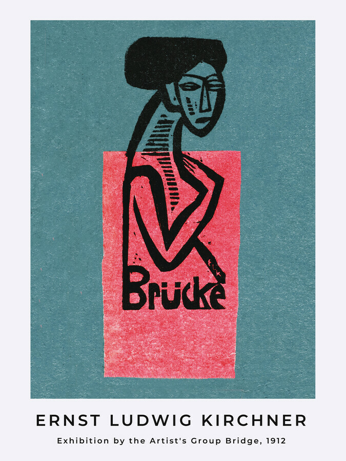 Exhibition poster of the artist's group Brücke by Ernst Ludwig Kirchner - Fineart photography by Art Classics