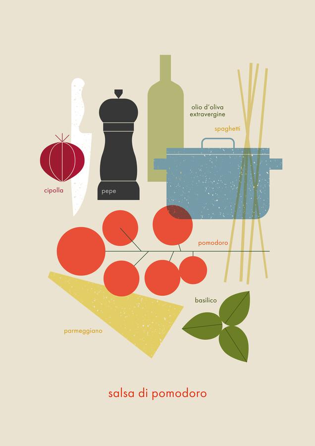 pasta di pomodoro - Fineart photography by Maja Modén