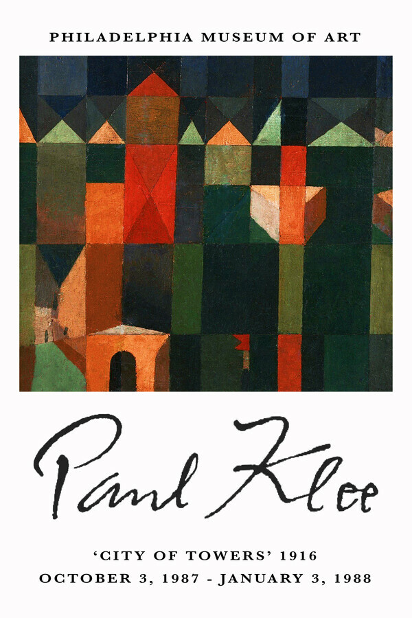 City of Towers - Paul Klee Ausstellungsposter - Fineart photography by Art Classics