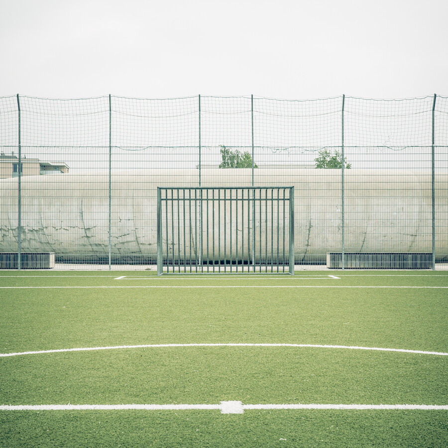 ARTIFICIAL GRASS, BOARD FENCE, SKATER BOWL 2014 - Fineart photography by Franz Sussbauer