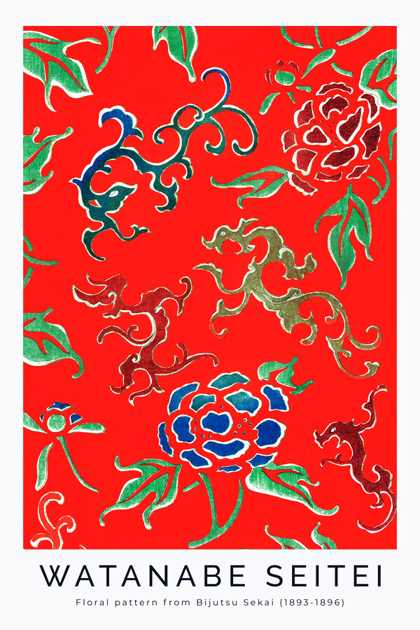 Flower Pattern by Watanabe Seitei 1893 - Fineart photography by Art Classics