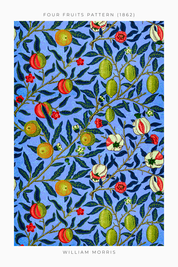 Four Fruits Pattern by William Morris - Fineart photography by Art Classics