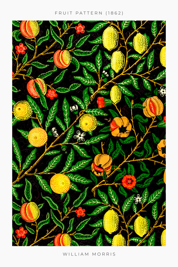 Fruit Pattern 1862 by William Morris - Fineart photography by Art Classics