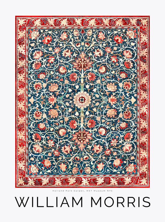 Carpet Pattern by William Morris - Fineart photography by Art Classics